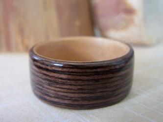 木の指輪 ~ウェンジ&ペアウッド~の画像