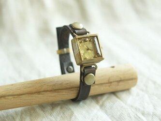 しかくい時計 dot gold n S001の画像