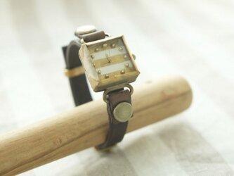 しかくい時計 w-shima white n S002の画像