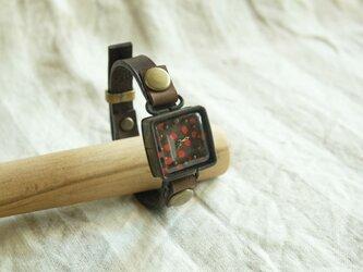 しかくい時計 r-dot brown n S003の画像