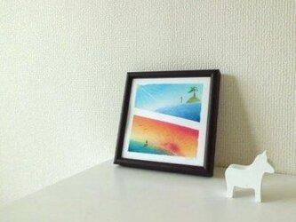 【原画】『The glassy  sea』(パステルアート)の画像