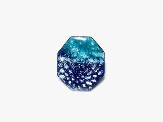 深海の花 七宝焼きブローチ oppoの画像