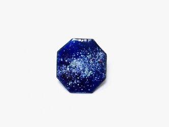 八角に切り抜いた星屑 七宝焼きブローチ oppoの画像