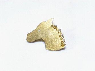 真鍮animal お馬のブローチ kukuの画像
