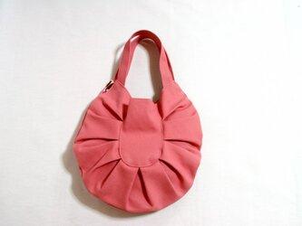 帆布たまご型バッグ ピンクの画像