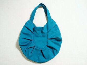 帆布たまご型バッグ コバルトブルーの画像