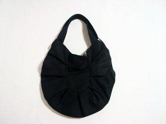 帆布たまご型バッグ ブラックの画像