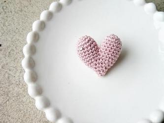 """【再販】""""HEART"""" brooch(ピンク)の画像"""