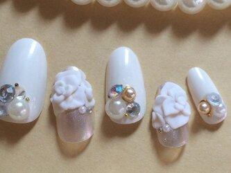結婚式/パーティに♪3D薔薇ビジュー/ネイルチップ☆の画像