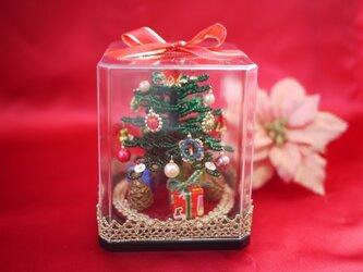 ビーズのクリスマスツリー(グリーン)サイズ(S)の画像