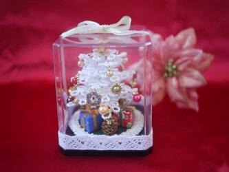 ビーズのクリスマスツリー(ホワイト)サイズ(S)の画像