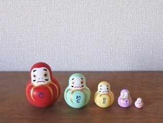 マトリョーシカ5個組(おめでとうダルマ)の画像