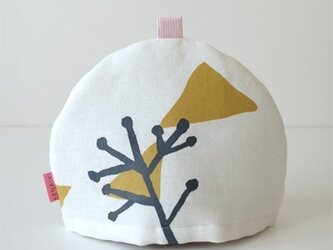 Tea cozy(white/illustration)の画像