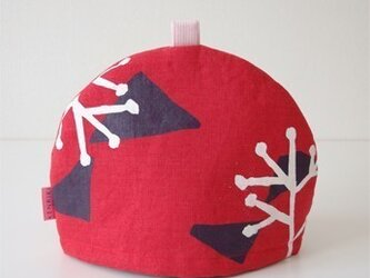 Tea cozy(red/illustration)の画像