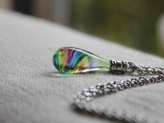 〜虹の泪〜 硝子のネックレスの画像