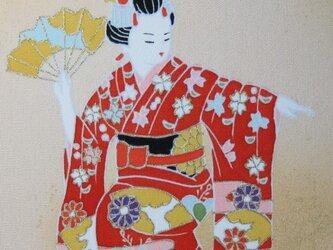舞妓さん手描きの京友禅染 絵のみの画像