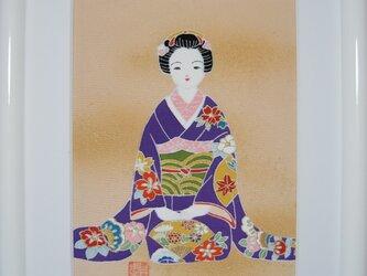 舞妓さん手描きの京友禅染 絵のみ(2)の画像