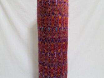 手織り絣ヨガマットバック パープル メタルバックルの画像