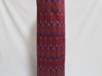 手織り絣ヨガマットバック パープル プラスチックバックルの画像