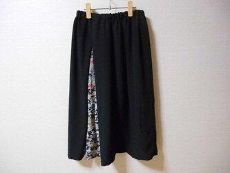 sale! 黒羽織と小紋のスカートの画像