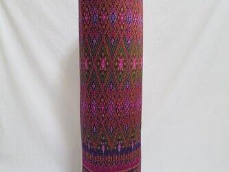 手織り絣ヨガマットバック パープルダイヤ プラスチックバックルの画像