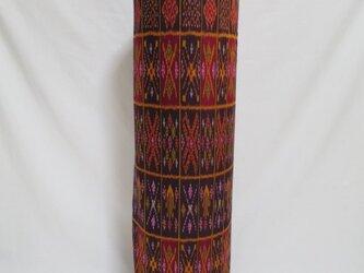 手織り絣ヨガマットバック エンジスクエア プラスチックバックルの画像