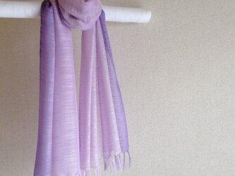 手染めシルクストール オーキッド×紫の画像