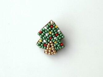 小さなクリスマスツリー ブローチの画像