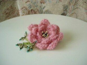 薔薇ブローチ(ピンク)の画像