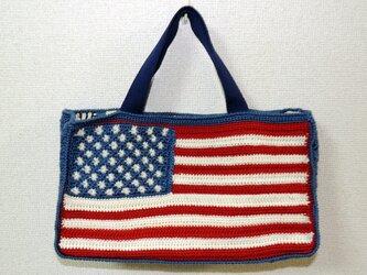 星条旗のバッグの画像