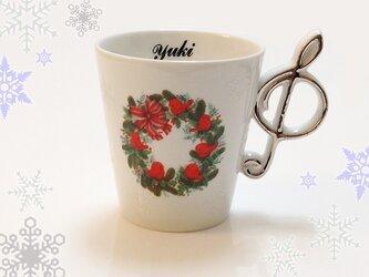 お名前入り クリスマス・ハミングバード マグカップの画像
