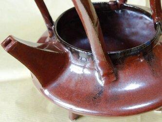注ぎ器形 花卉 鉄赤釉Ⅰの画像