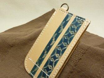 大人ブルーのICカードケースの画像