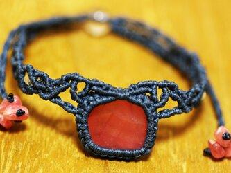 インカローズのマクラメ編み 天然石ブレスレットの画像
