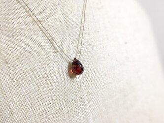〈bio〉繊細な糸のネックレス【14kgf】【ガーネット】の画像