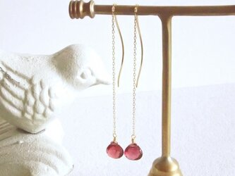 K10 Garnet Earringsの画像