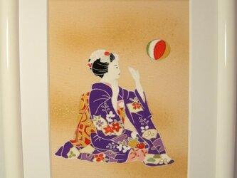 舞妓さん手描きの京友禅染 絵のみ(4)の画像