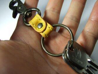アンティークナスカンのキーホルダー 黄色の画像