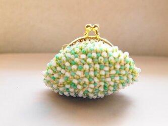 ビーズ編み-ふっくらころんプチがま口の画像