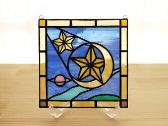 ステンドグラス ミニパネル 流星 15cmの画像