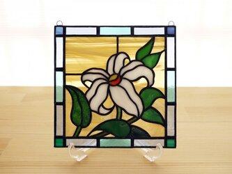 ステンドグラス ミニパネル 野ゆり 15cmの画像
