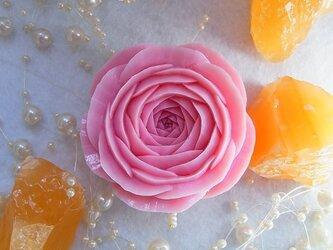 【オーダー】ピンクのバラいちりん。 ソープカービングの画像
