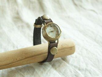 まるい時計 dot white n R004の画像