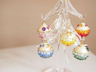 【1点もの】クリスマスツリー(マルチカラー・オーナメント)の画像