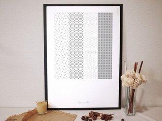 幾何学模様 ポスター01【geo-graphics】の画像