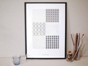 幾何学模様 ポスター02【geo-graphics】の画像