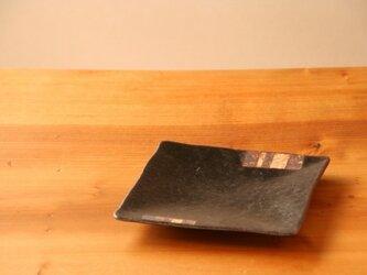 六寸角皿(シカク・黒釉)の画像