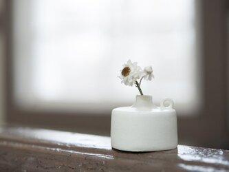 白い小さな花器 277の画像