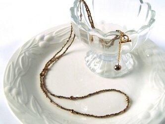 オペラサイズ・チェコガラスとビンテージビーズのネックレスの画像