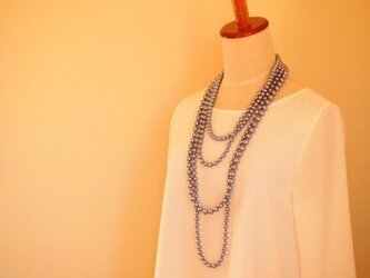 4連 cotton pearl necklace (3WAY)の画像
